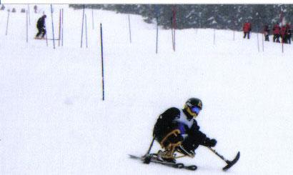 Lyne Tremblay en para ski