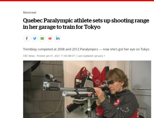 Quebec Paralympic athlete sets up shooting range in her garage to train for Tokyo